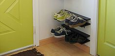 I love this!! My shoes are always a disaster by my front door lol. Shoe Rack