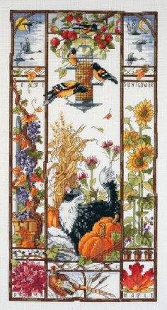Janlynn Counted Cross Stitch Kit, Cat Sampler