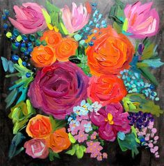 flower painting - Buscar con Google