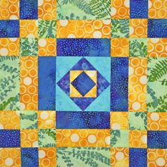 July's Quilt's from El's Kitchen Live Block Party Video. Watch as Eleanor teaches you how to make Cheese Box and Crab Apple