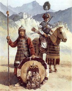 Risultati immagini per tibetan warrior Tibet, Chinese Armor, Genghis Khan, Japanese Warrior, Fantasy Figures, Medieval World, Asian History, Ancient China, Dark Ages