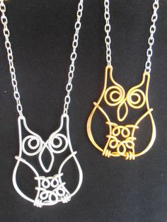 Wise Old Owl Necklace Hand Wire