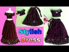 Sewing Barbie Clothes, Barbie Clothes Patterns, Clothing Patterns, Fashion Dolls, Fashion Dresses, Lehenga Style, Doll Dresses, Barbie And Ken, Doll Crafts