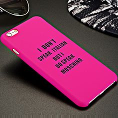 I DON'T SPEAK ITALIAN Matte Coque Chassis Pop Case Cover for iPhone 6 6s plus Letter Hard Plastic Frosted Scrub Back Capa Fundas Digital Guru Shop
