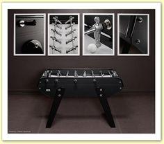 Le baby-foot Bonzini Domeau Noir sans monnayeur un des plus beaux baby-foot des salles de jeux