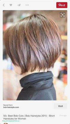 My hairstyle ?: - - - My hairstyle ? Bob Haircuts For Women, Short Bob Haircuts, Short Hairstyles For Women, Straight Hairstyles, Cool Hairstyles, Hairstyle Ideas, Haircut Short, Haircut Bob, Hairstyle Short