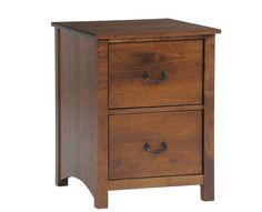 Amish Rivertowne 2, 3, or 4 Drawer File Cabinet