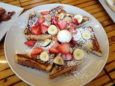French Toast & Fresh Fruit | http://chowdownbythebay.blogspot.com/2014/01/giant-food-menu-challenges-at-eagles.html | #boston #foodblog #brighton #clevelandcircle #foodie #giantfood #foodchallenge #omelette #rye #eggs #breakfast #brunch #pretty #colors #colorful #gorgeous #amazing #delish #foodporn #nomnom #yum #recipe #restaurants #review #foodcritic #frenchtoast #fruit #eatclean #eathealthy