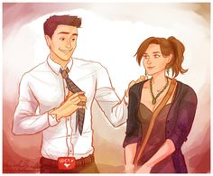 Bones and Booth by *viria13 on deviantART