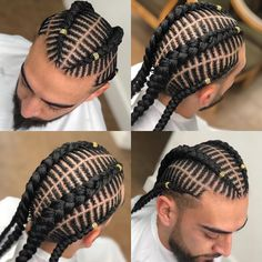 5 Gorgeous Twist Braid Styles that you will Surely Love Braids For Boys, Braids For Black Hair, Kid Braids, Iverson Braids, Cornrow Hairstyles For Men, Braid Styles For Men, Curly Hair Styles, Natural Hair Styles, Coiffure Hair