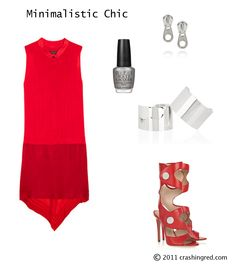923b5402e93 Outfit for dinner out with red dress. Crashing Red · Polish Your Style