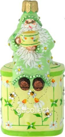 Ah Summer! Tea Time Santa (Daisies) Patricia Breen Designs (Flowers and Bees and Theme)