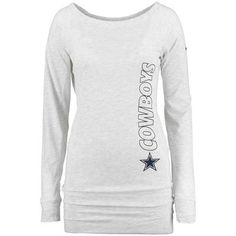 Women s Dallas Cowboys Nike Gray Stadium Epic Crew Long Sleeve Performance T -Shirt 1ccd73a9f