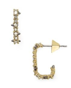 Alexis Bittar Crystal Encrusted Mini Hoop Earrings | Bloomingdale's