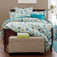 Jaime Percale Floral Duvet Cover | The Company Store