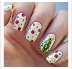 Navidad en las uñas