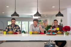 The Scott brothers are back with another stunning renovation! This time, they're transforming dated kitchens into modern showpieces, with HGTV's Cousins on hand to pick a winner. Take a tour now. Scott Brothers, Kitchen Photos, Kitchen Ideas, Jonathan Scott, Room Pictures, Kitchen Lighting, Hgtv, Curb Appeal, House Design