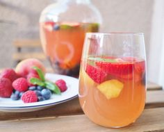 Warmer days call for rosé! This easy rosé sangria recipe combines the best parts of summer - fresh fruit and basil, classic lemonade and, of course, rosé.