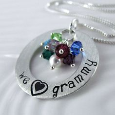 We Love Grammy Necklace  1 Hand Stamped by alisonkelleydesigns, $62.00