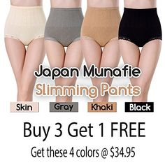 37bd8fc1e20 4pack Japan Munafie High Waist Slimming Panty Seamless Body Belly Shaper   gt  gt  gt