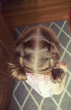 easy hairstyles to do yourself, two braids ending in small buns, grey carpet, blonde hair hair styles for toddlers daughters ▷ 1001 + ideas for beautiful and easy little girl hairstyles Easy Toddler Hairstyles, Easy Little Girl Hairstyles, Baby Girl Hairstyles, Cute Hairstyles For Short Hair, Braided Hairstyles, Short Hair Styles, Beautiful Hairstyles, Simple Hairstyles, Hairstyle For Baby Girl