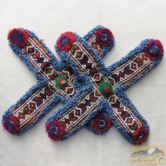 Vintage Tribal Talisman:  Kuchi Beaded Remnant by Afghan Tribal Arts