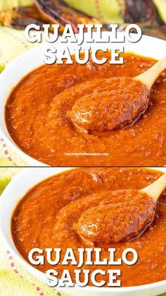 authentic mexican salsa Make this authentic guajillo sauce from Mexican chili peppers. Great for enchiladas or tamales with chicken or beef. Can serve as a salsa or table sauce. Authentic Mexican Recipes, Mexican Salsa Recipes, Mexican Appetizers, Mexican Chili, Spicy Recipes, Cooking Recipes, Authentic Tamales Recipe, Vegetarian Mexican, Mexican Cooking