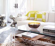 Bonnie Brooks's Gallery-Like Living Room   House & Home