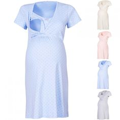 Happy Mama Women s Maternity Hospital Gown Nightie for Labour & Birth. Maternity Gowns, Maternity Fashion, Maternity Style, Birthing Gown, Baby Hospital Outfit, Hospital Gowns, Nursing Gown, Breastfeeding Clothes, Newborn Outfits