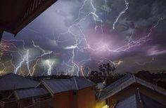 Lightning in Brisbane last week.