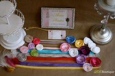 Baby Girl shower idea--a kit for guests to made headbands for the baby! --Wayyy better than any shower game!  From LB Boutique on Etsy