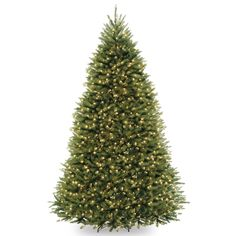 National Tree Co. 9' Dunhill Fir Hinged Green Artificial Christmas Tree with 900 Clear Lights & Reviews | Wayfair
