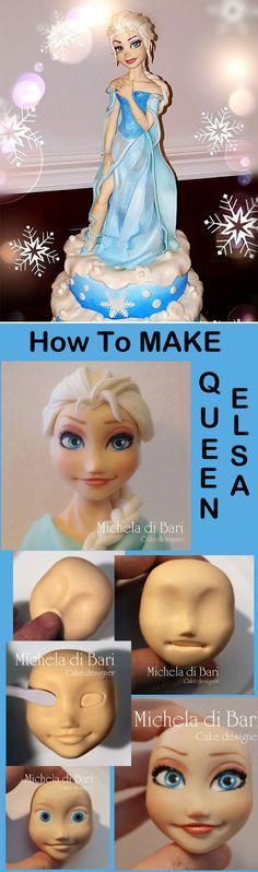 How To Make An Elsa Cake Topper by Michele di Bari