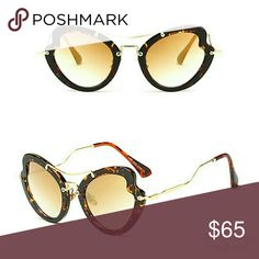 ad1209bfd78 Tortoise Trendy NEW Butterfly Heart Sunglasses On-trend SUNNIES! High  quality