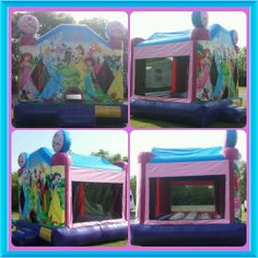 Princess Party, Disney Princess, Inflatable Bounce House, Things That Bounce, Party Ideas, Day, Ideas Party, Thirty One Party, Disney Princesses