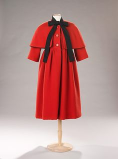 Balenciaga 1958 Red Wool and Silk Coat