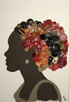 Fun Crafts, Diy And Crafts, Arts And Crafts, Stick Crafts, Disney Button Art, Afrique Art, African Quilts, African Paintings, African Crafts
