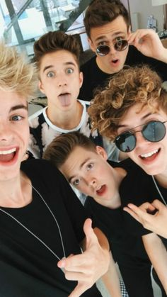 Daniel is being his normal self, Jack is smiling for once, Zach is acting as if there is a cute girl nearby, corbyn is kinda in the picture, and Jonah is there smiling