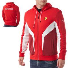 PUMA Scuderia Ferrari Hooded Sweat Jacket mikina s kapucí pánská cd54b074b90