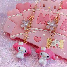 Super cute My Melody Earrings Brand new never worn. Bundle to save! Kawaii Jewelry, Kawaii Accessories, Weird Jewelry, Cute Jewelry, Looks Kawaii, My Melody, Kawaii Clothes, Indie Kids, Diy Clay