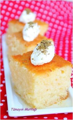 Yoğurt Tatlısı Turkish Recipes, Ethnic Recipes, Turkish Sweets, Vanilla Cake, Food To Make, Cheesecake, Yummy Food, Healthy Food, Favorite Recipes