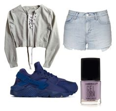 """Making a video"" by faithboge-1 on Polyvore featuring Topshop, NIKE and Forever 21"