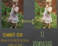 Summer Sun Photoshop Action Photography Warmth Cheap #photography #photoshop #action