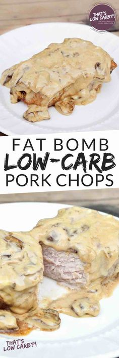 Low Carb Fat Bomb Pork Chops Recipe - Perfect for a Keto diet or just for generally getting plenty of fats in your low carb eating plan. This Low Carb Fat Bomb Pork Chops recipe is the best low carb pork chop recipe of all time. It's been getting raving reviews since and for good reason. Satisfying all those cravings in under an hour. ~ https://www.thatslowcarb.com
