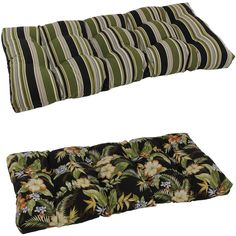 Sit outside in comfort with this thick outdoor loveseat cushion. The plush cushion will fit on most standard benches or loveseats and features a weatherproof material. They do not require special storage making them ideal for any busy family.
