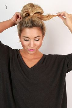 Finally...The hair tutorial we know you have all been waiting for! We love big buns (we cannot lie), and we are so excited to shareyour newest go-to hairstyle