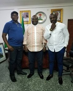 Actor Jim Iyke visits Governor Okezie Ikpeazu
