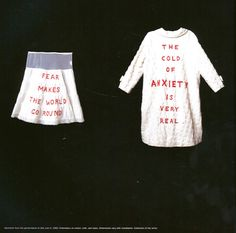 Louise Bourgeois, She Lost It (1992) (pyjamas) [for lucy; here's another of our famous relatives]