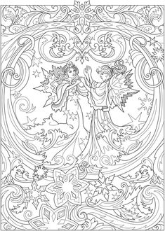 – coloring pages - Malvorlagen Mandala Angel Coloring Pages, Adult Coloring Book Pages, Printable Adult Coloring Pages, Christmas Coloring Pages, Colouring Pages, Coloring Books, Kids Coloring, Colorful Drawings, Colorful Pictures