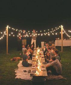Iluminación en fiestas al aire libre